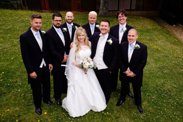 CEREMONY - ST JOHNS CHURCH SANDWON   BESPOKE DRESS BY FORGET ME KNOT DESIGNS   SUITING BY OSBORNS RYDE   FLOWERS - ALL SEASONS